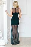 Смелое платье с глубоким вырезом изумрудного цвета, фото 3