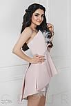 Уникальное короткое платье розового цвета со страусиным пером, фото 2