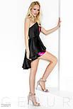 Вечернее короткое платье черного цвета и ярко-розовыми пайетками, фото 2