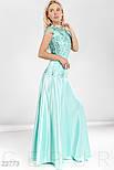 Вечернее приталенное платье макси нежно голубого цвета, фото 2