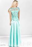 Вечернее приталенное платье макси нежно голубого цвета, фото 3