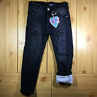 8403d10e1a154a1 Детские теплые джинсы на травке для девочки рр. 98-122 Beebaby (Бибеби)