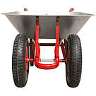 Тачка садово-строительная двухколесная INTERTOOL WB-0623, фото 3
