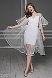 Вечернее воздушное платье из фатина белое, фото 2