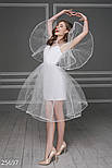 Вечернее воздушное платье из фатина белое, фото 3