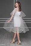 Вечернее воздушное платье из фатина белое, фото 4