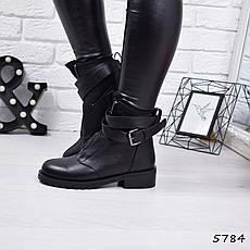 """Ботинки, ботильоны черные ЗИМА """"Orlando"""" эко кожа, повседневная, зимняя, теплая, женская обувь, фото 2"""