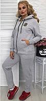 Спортивный женский костюм утепленный в большом размере, фото 1
