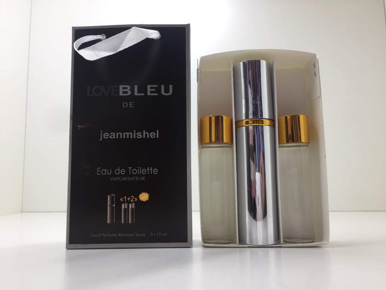 Подарочный набор духов Jeanmishel Bleu de (Жанмишель Блю Де) 3 по 15 мл