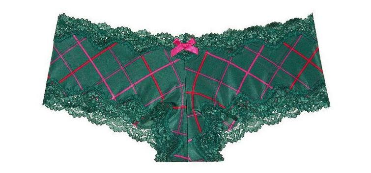 💋  Трусики Чики Victoria's Secret Lace-Trim Cheeky Panty S, Зеленые