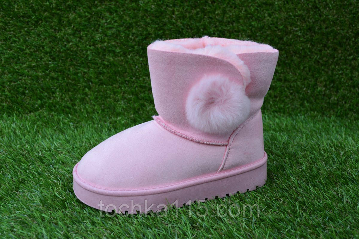 Детские зимние UGG Australia угги розовые для девочки 28 - 35, копия