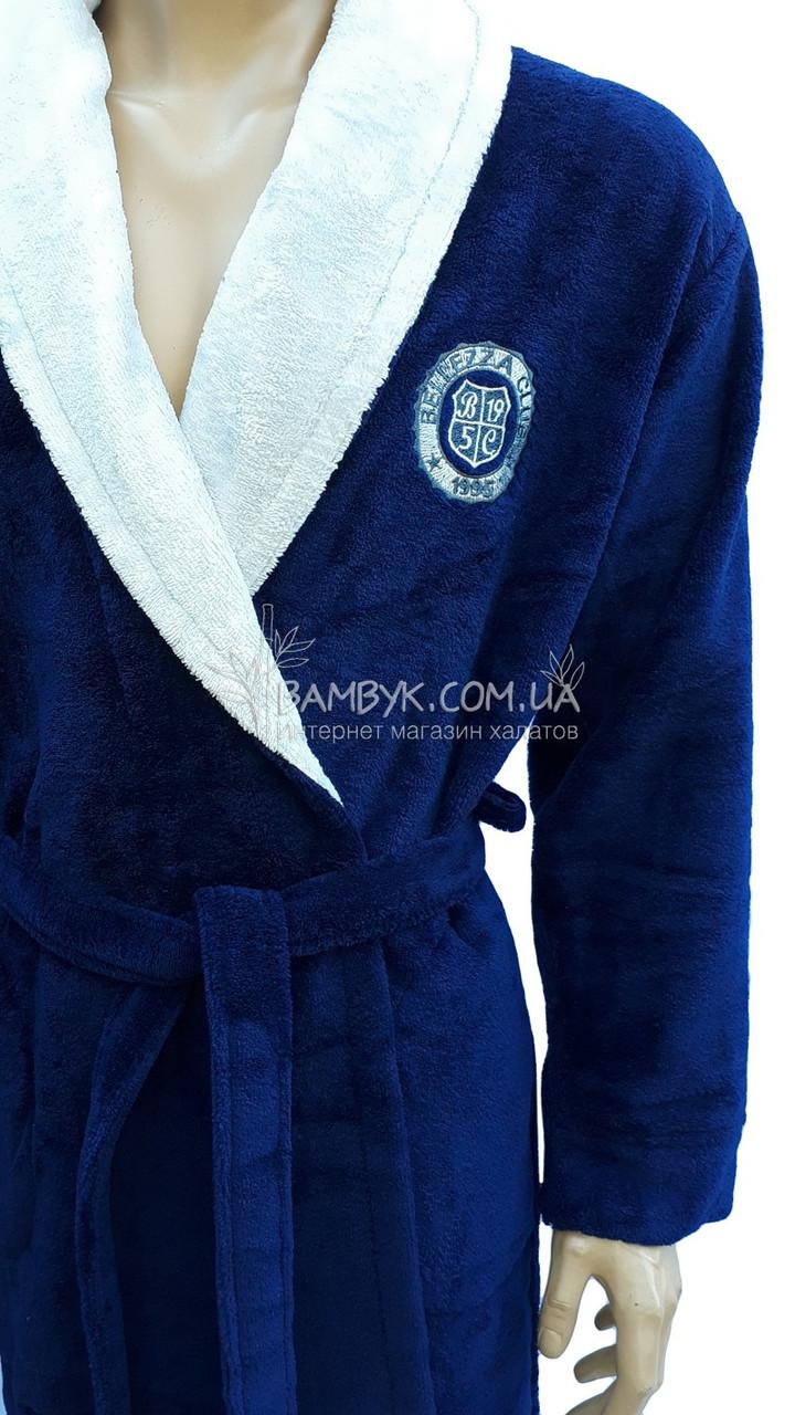 7d8b878488dc9 ... Мужской халат Bellezza By Ebru бамбуковый синего цвета №2015, ...