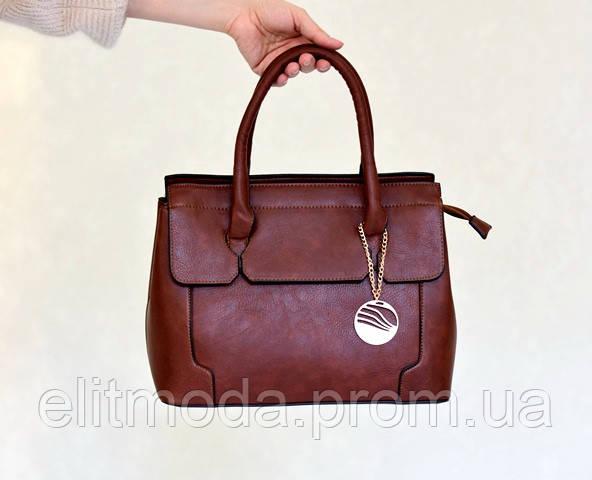 41f596c9521b Красивая коричневая сумка для деловых женщин, новинка летнего сезона 2019  года, брелок на цепочке