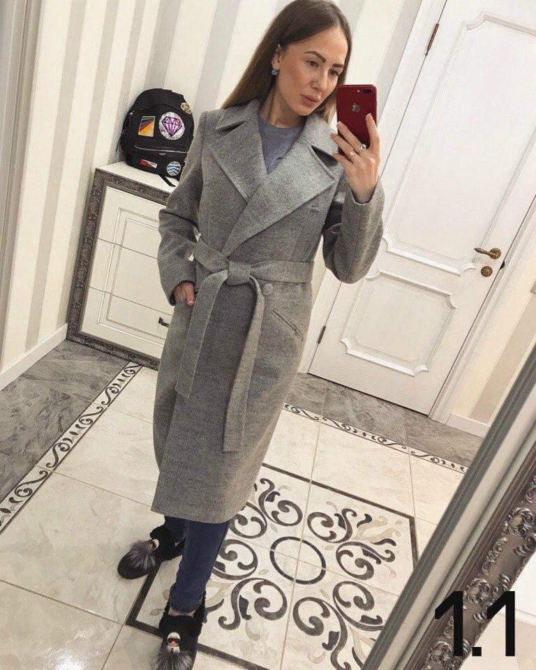 0fbc125a5ce Женское длинное пальто из шерсти