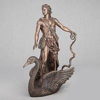 Бронзовая статуэтка Аполлон плывущий на лебеде (36 см)