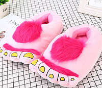 """Рожеві тапочки іграшки """"Ноги первісної людини"""", фото 1"""