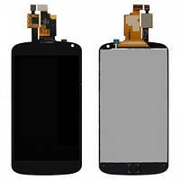 Дисплей (LCD) LG E960 Nexus 4 с тачскрином чёрный high copy (LCD TEST)