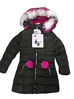 Куртки  на меху для девочек оптом размеры 4-12 лет, S&D арт. KF 83