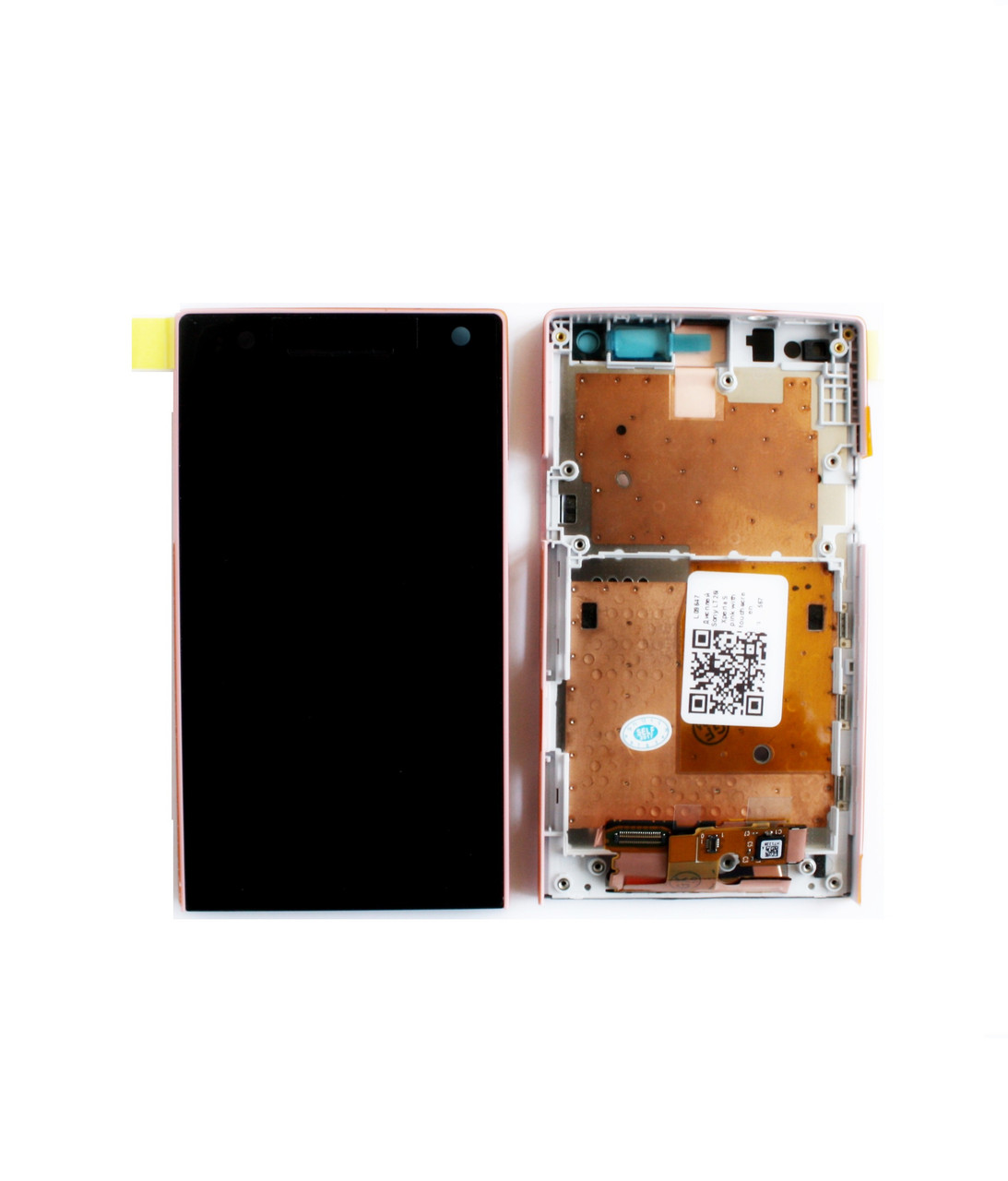 Дисплей (LCD) Sony LT26i Xperia S с тачскрином и рамкой pink orig