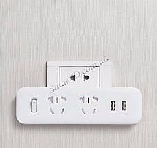 Разветвитель Xiaomi (MiJia) Power Strip (2 розетки + 2 USB) MJEWZHQ-01QM (Белый), фото 3