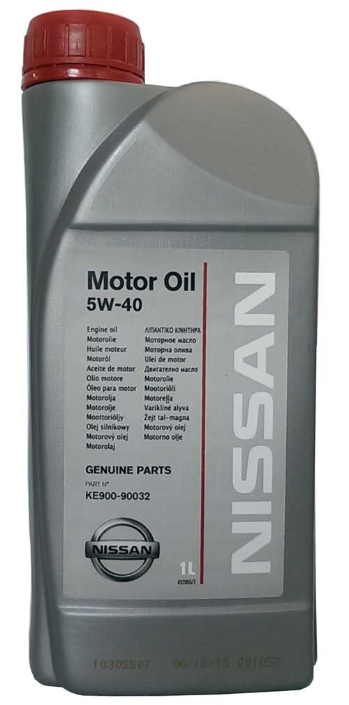 Моторное масло синтетическое Nissan 5w40 1л