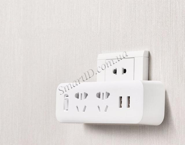 Разветвитель Xiaomi (MiJia) Power Strip (2 розетки + 2 USB) MJEWZHQ-01QM (Белый)
