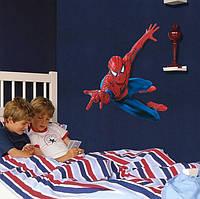 Интерьерные наклейки на стену человек паук размер 60х90
