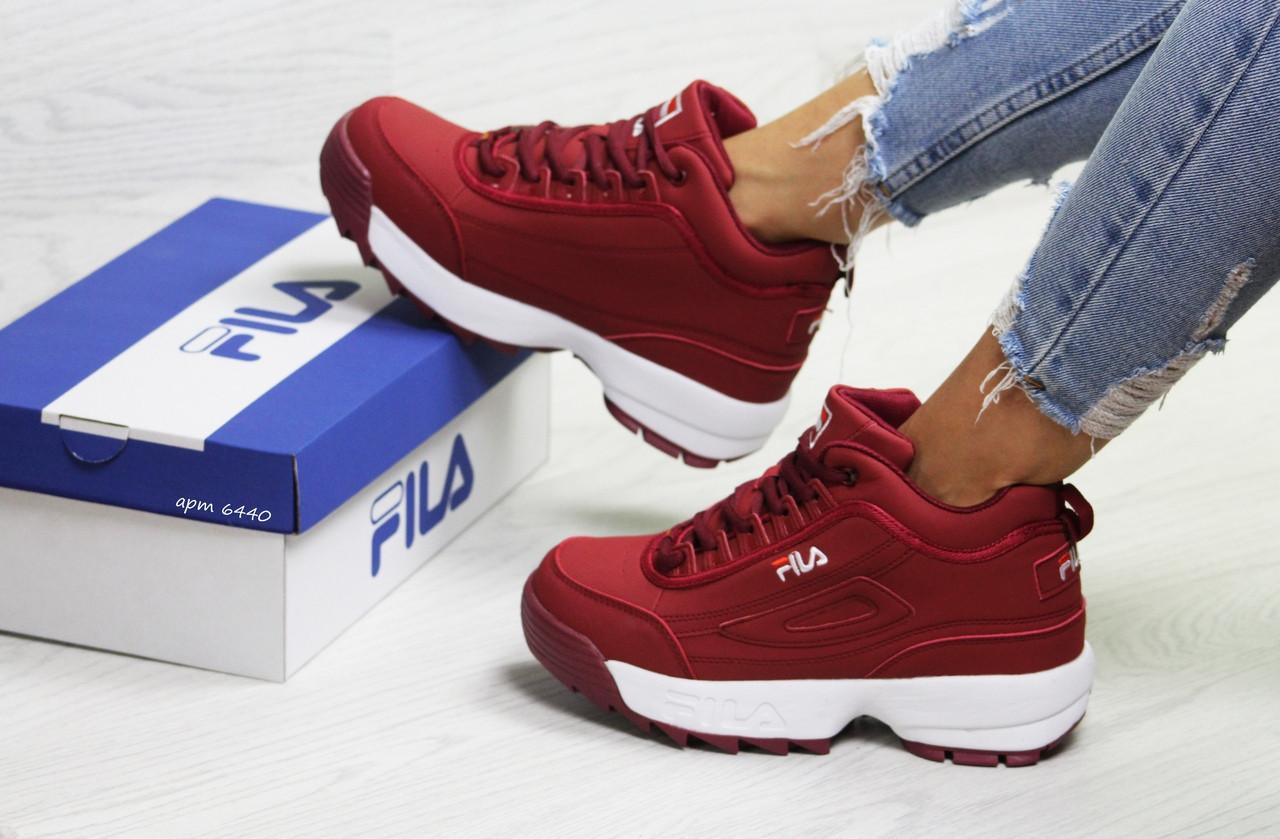 062a3d7f5 Зимние женские кроссовки Fila,бордовые,на меху - Интернет-магазин Дом Обуви  в