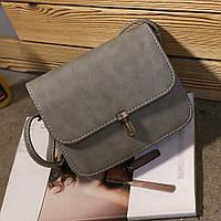 Женская сумка через плечо серого цвета, Жіноча сумочка, Клатч, фото 1