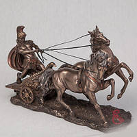 Бронзовая статуэтка Римский воин на колеснице (17 см)