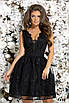 Платье вечернее без рукав гипюр+габардин 42,44,46 , фото 3