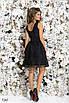 Платье вечернее без рукав гипюр+габардин 42,44,46 , фото 4