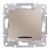 Выключатель одноклавишный проходной с подсветкой Титан Schneider Sedna (sdn1500168)