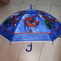 Зонт трость для мальчика силиконовый Человек Паук, фото 1