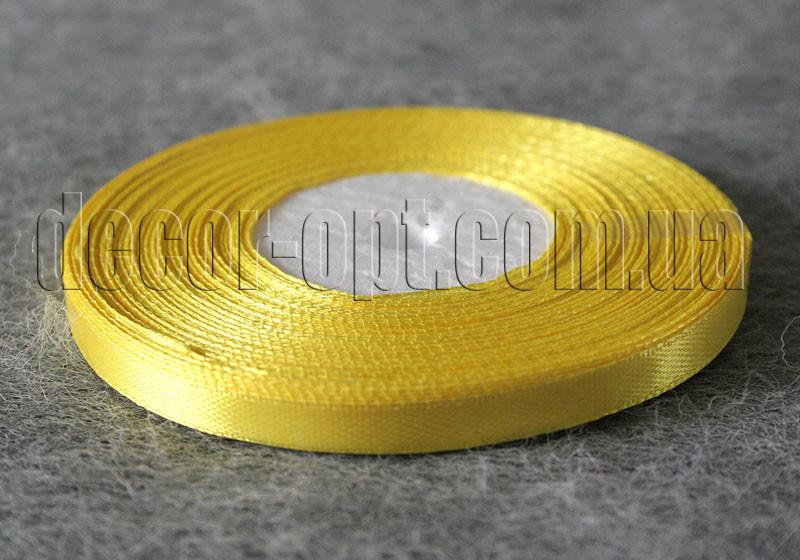 Стрічка атласна жовта 0,6 см 36ярд 15