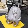 Городской женский рюкзак серый с кошельком, фото 3