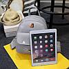 Городской женский рюкзак серый с кошельком, фото 2
