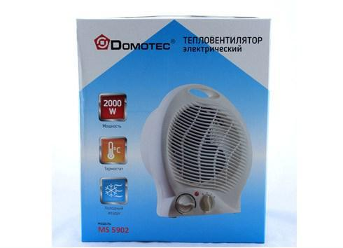 Мобильный тепловентилятор Domotec (дуйка) 2000 вт