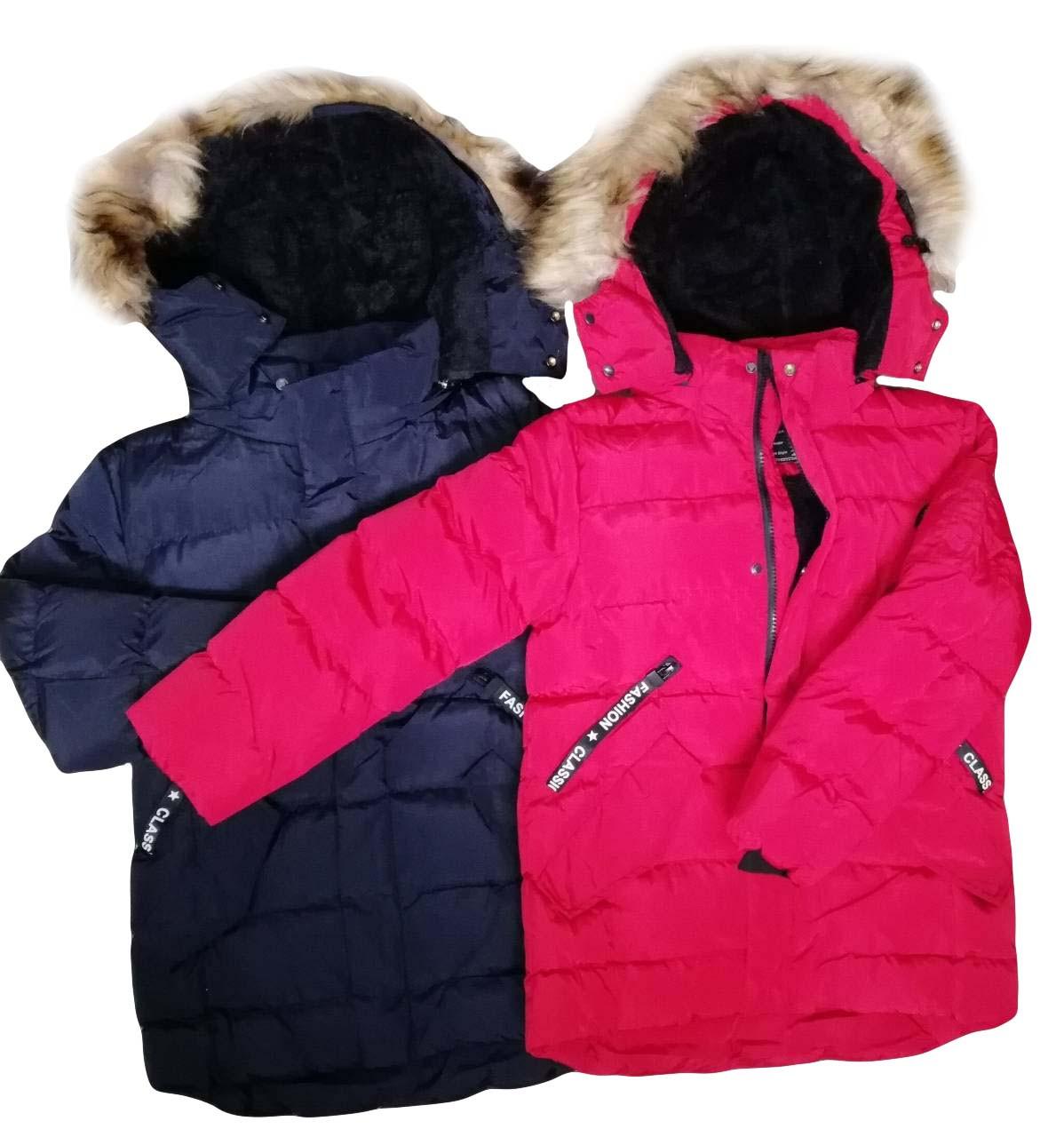 Куртки  на меху для мальчиков оптом размеры 8-18 лет, S&D арт. KF 116