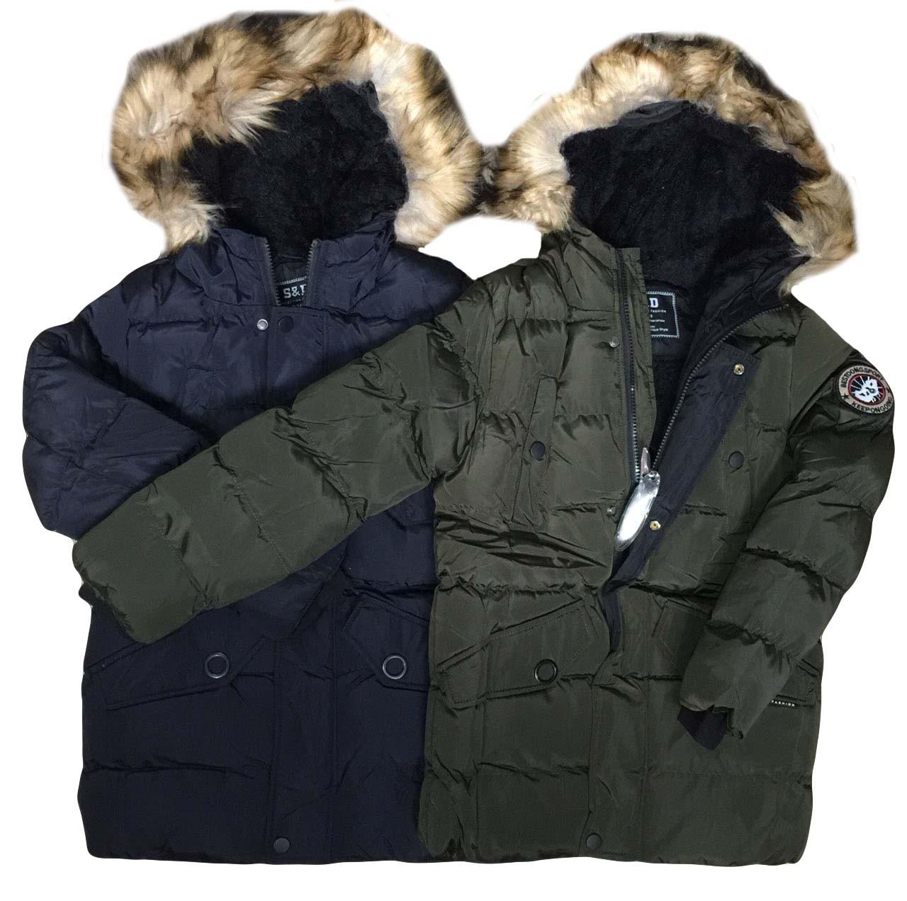 Куртки  на меху для мальчиков оптом размеры 8-18 лет, S&D арт. KF 117