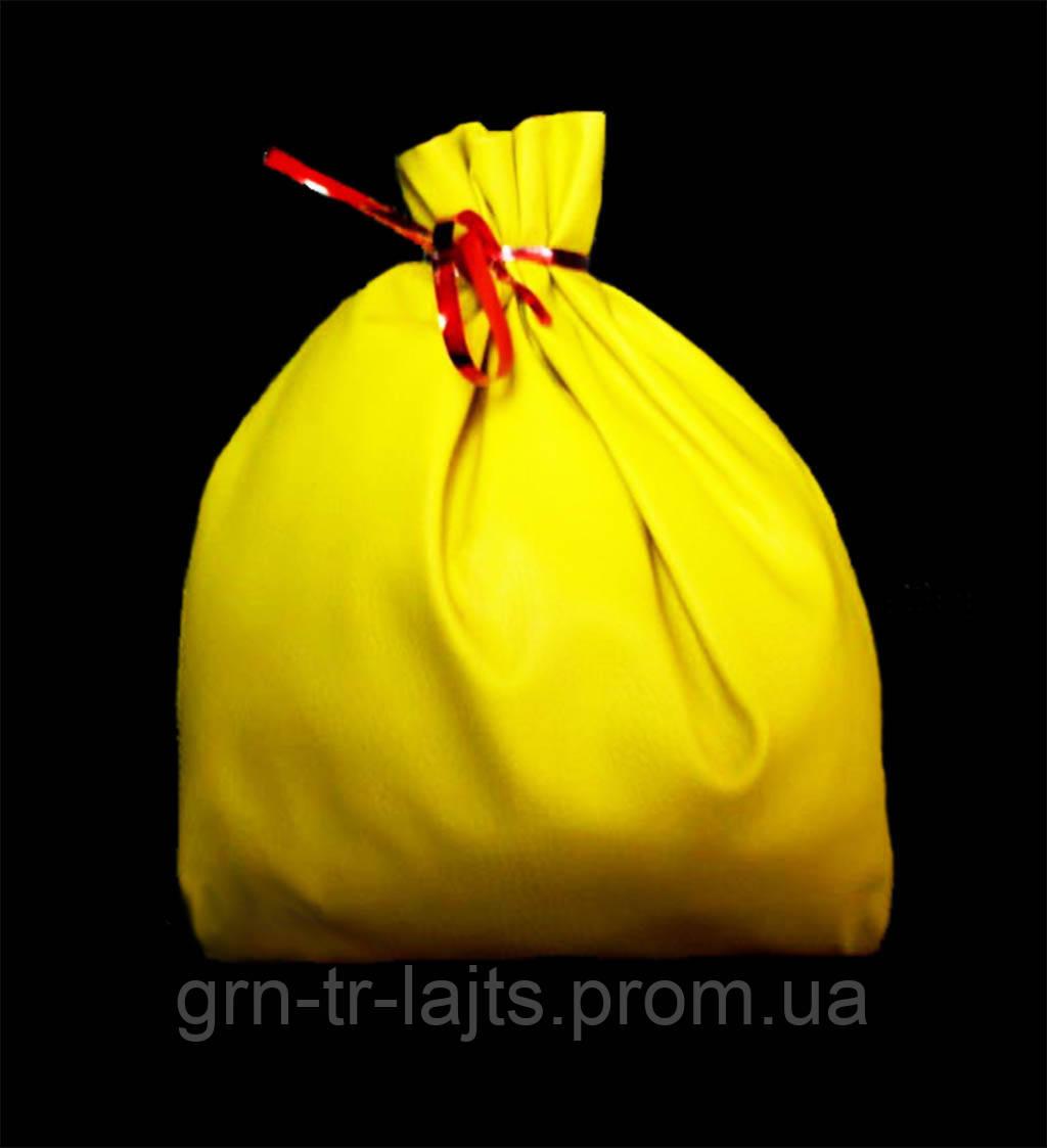 Игрушка на елку большая Мешок Желтый Ялинка України Искусственная кожа