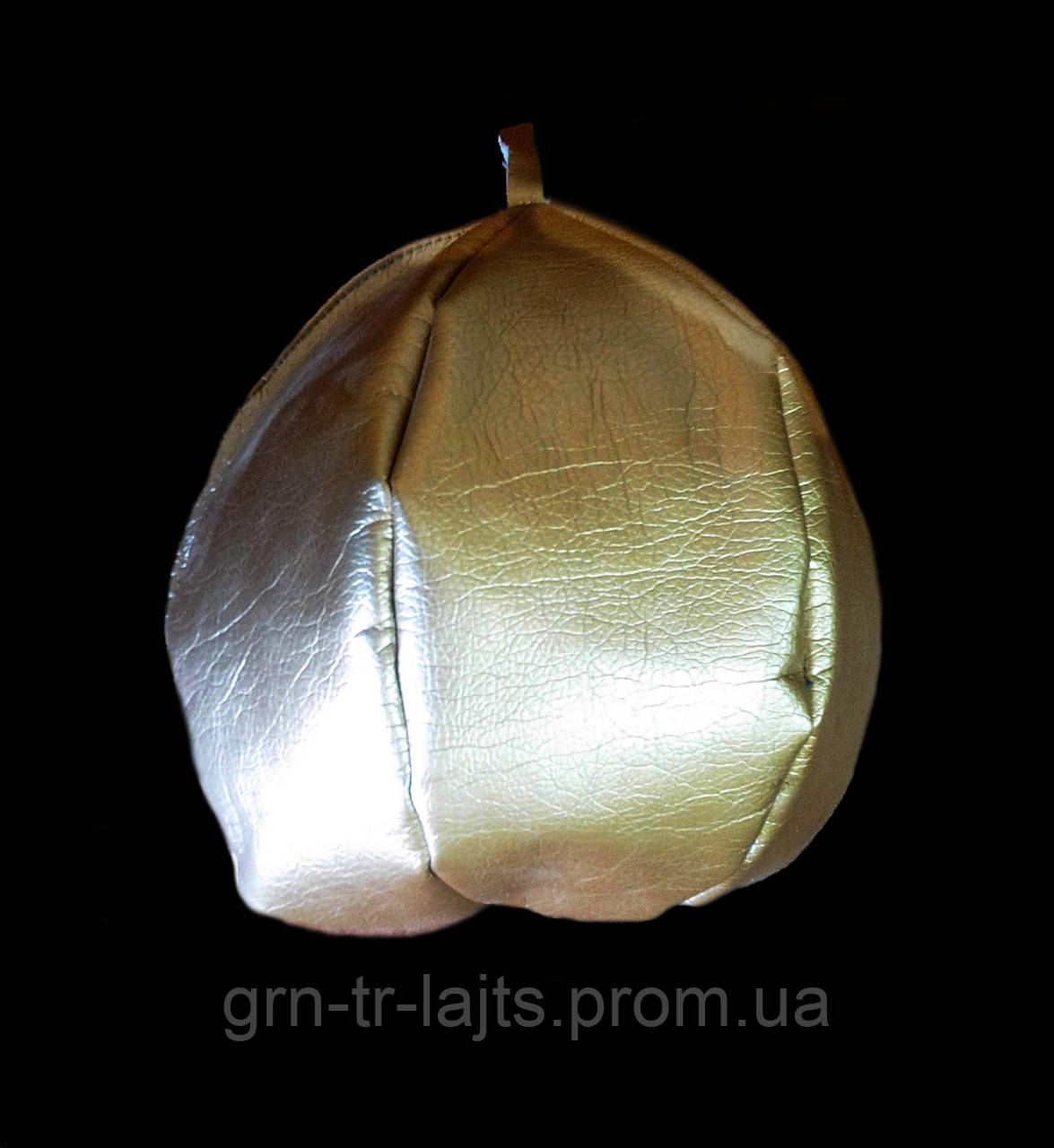 Игрушка на елку большая Мяч Серебрянный Ялинка України Искусственная кожа