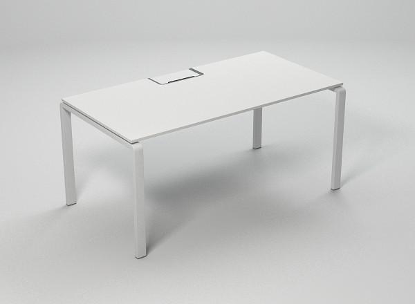 Стол офисный на металлических опорах с лючком Enrandnepr 1411x814