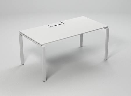 Стол офисный на металлических опорах KBS с лючком