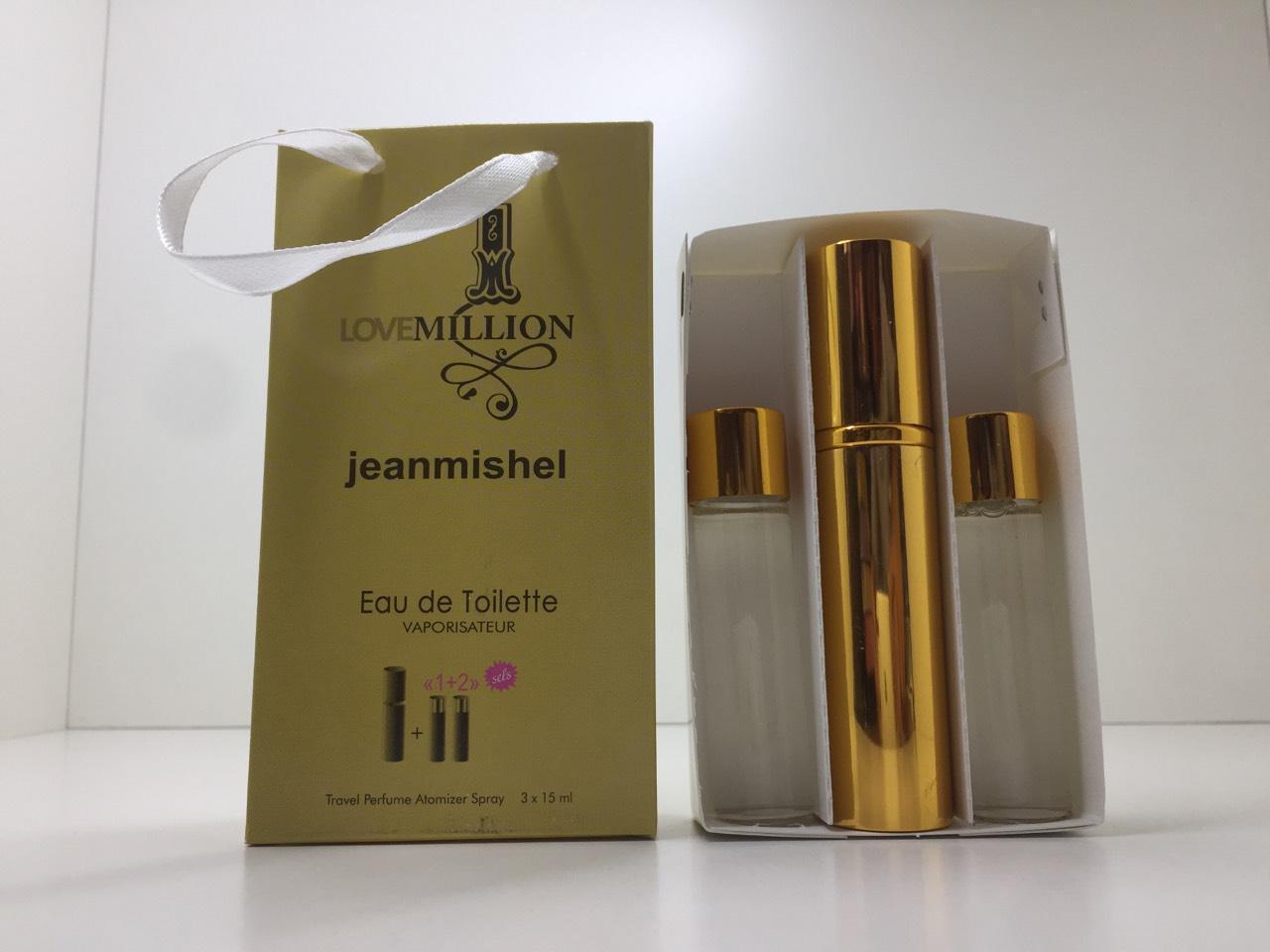 Подарунковий набір парфумів Jeanmishel 1 Million (Жанмишель Ван Мільйон) 3 по 15 мл