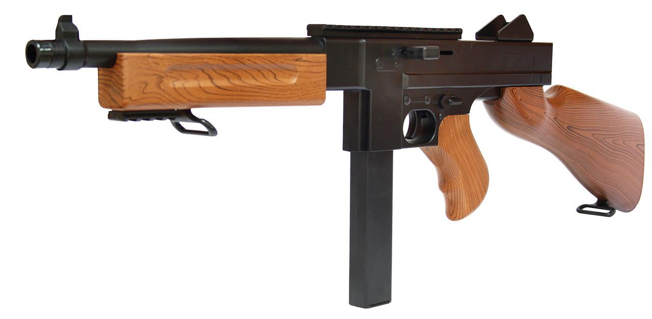 Игрушечный автомат Томпсона Thompson M1A1, стреляет пульками, есть ремешок,детское оружие, Томмиган