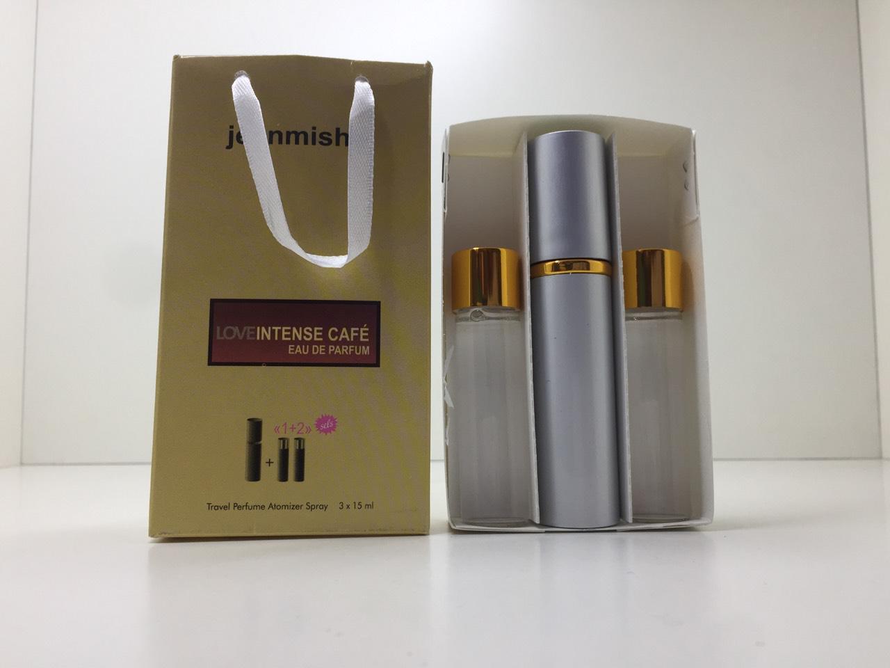 Подарочный набор духов Jeanmishel Intense Cafe (Жанмишель Интенс Кафе) 3 по 15 мл