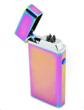 Импульсная зажигалка USB 612 хамелеон, A381