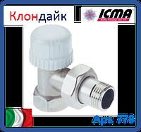 Icma Угловой термостатический вентиль с предварительной настройкой для железной трубы 3/4