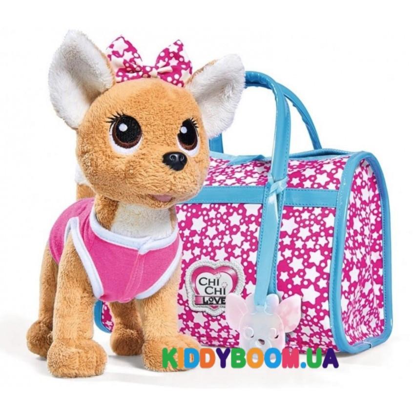 Собачка Чихуахуа Фешн Звездочка с сумочкой и подвесом Chi Chi Love 5893115